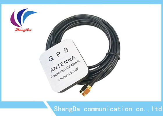 ضد آب 28dBi Gain Automotive Gps Antenna 1575.42MHz Magnet High Strength